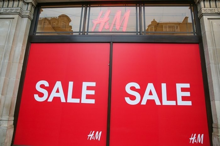 An exterior view of H&M store on Regents Street