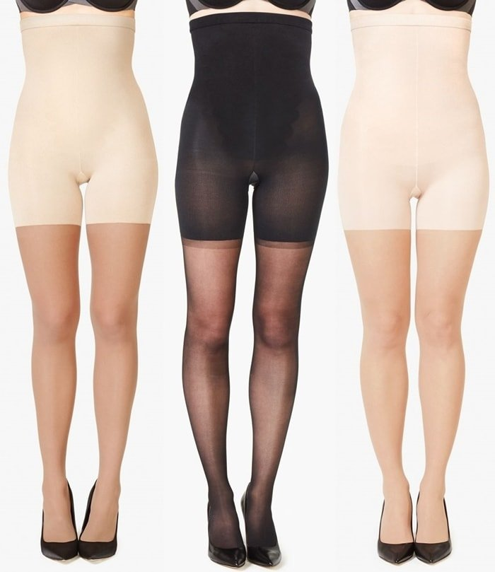 Designed with a built-in, high-waisted shaper and comfortable yarns in a variety of shades, these sheers keep your legs looking better than naked