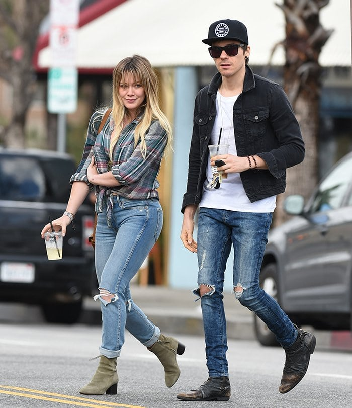 Hilary Duff and then-rumored new boyfriend Matthew Koma in Los Angeles on January 19, 2017