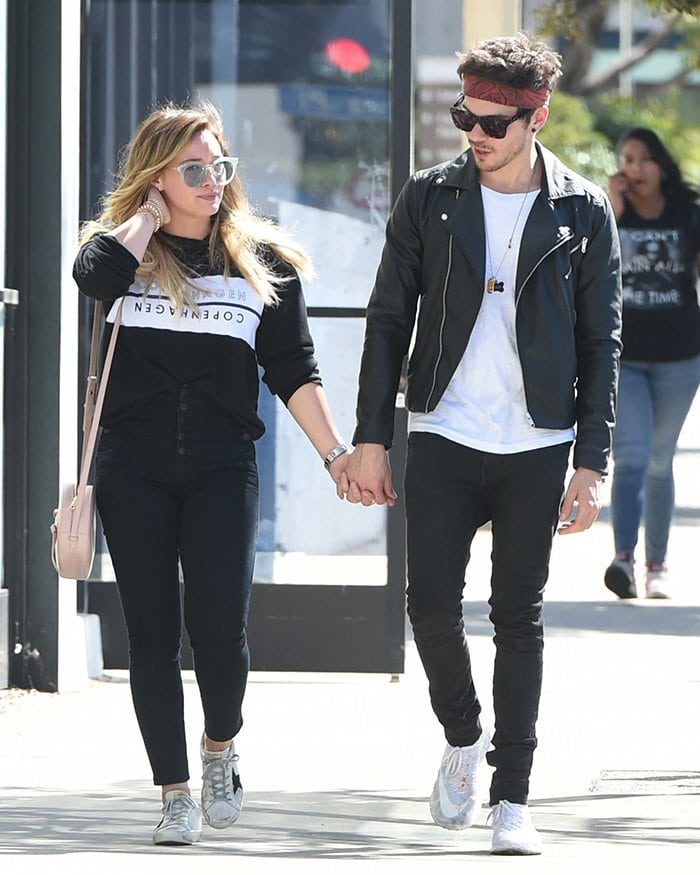 Hilary Duff and Matthew Koma pictured on October 15, 2017 after their brief split