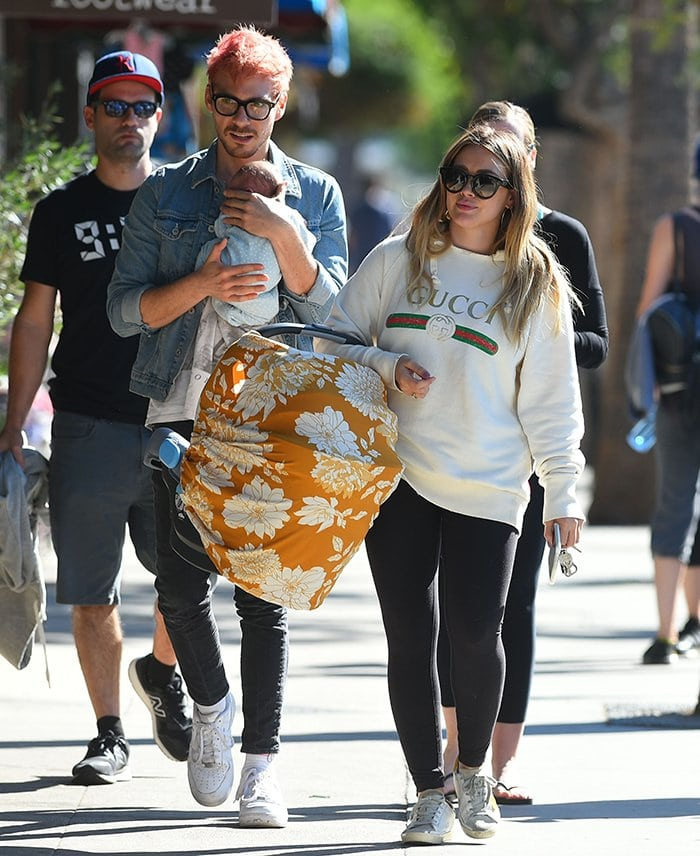 Matthew Koma and Hilary Duff take their newborn daughter out in Los Angeles on November 9, 2018