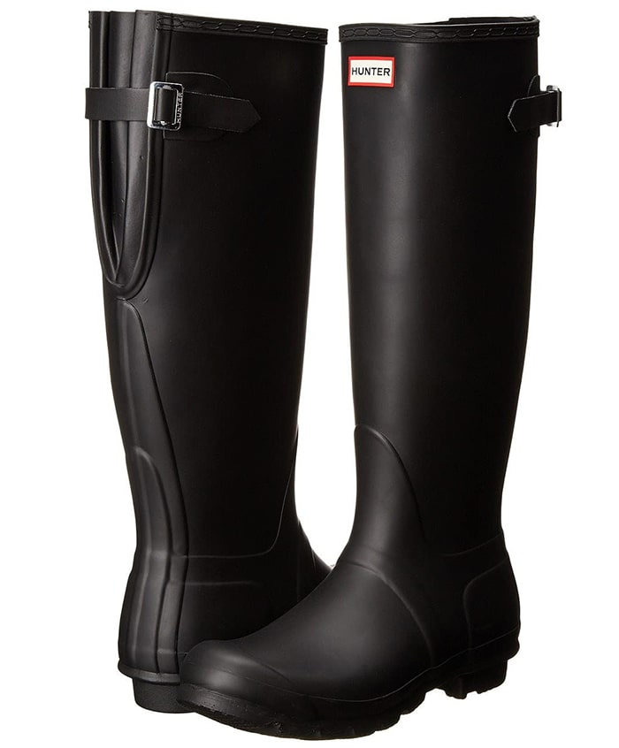 Every rain storm has a silver lining because you can step out in the classic Hunter Original Adjustable boots