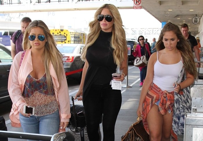 Kim Zolciak-Biermann with her daughters Brielle Biermann and Ariana Biermann