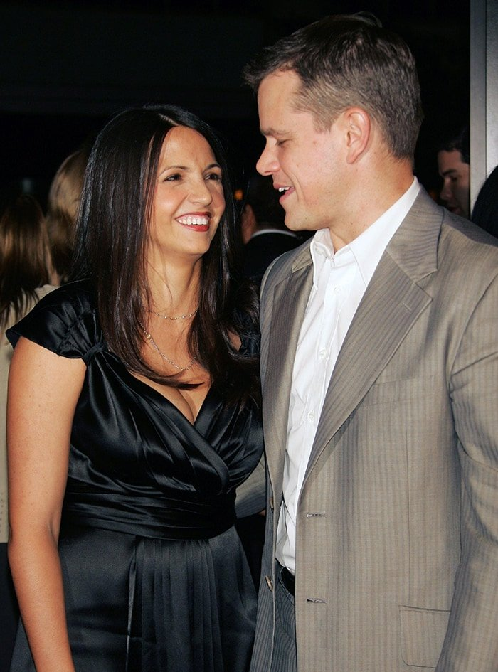 Luciana Barroso and Matt Damon first met in 2003 while Matt was filming Stuck on You
