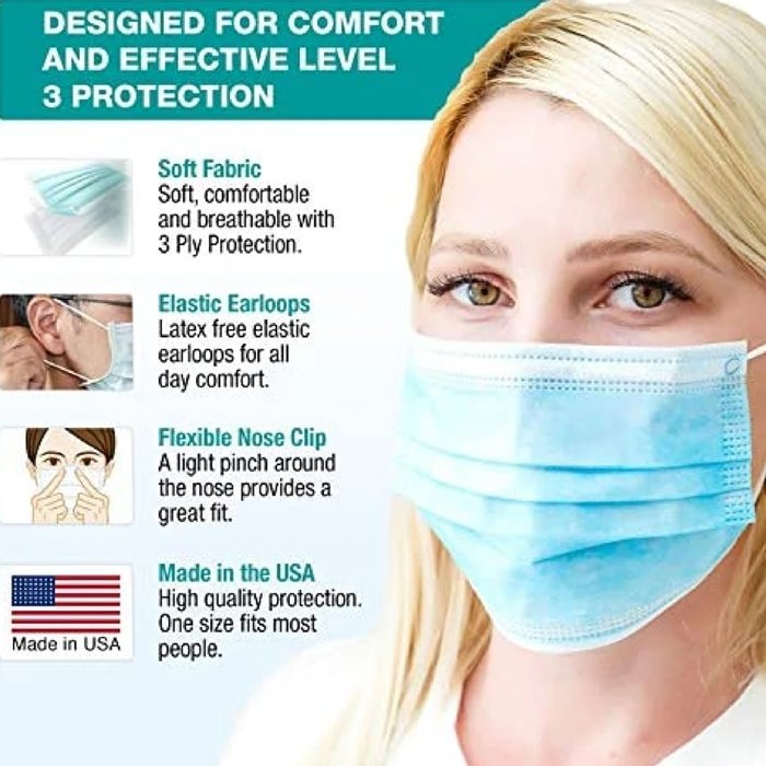 These American face masks are tested and in compliance with FDA ASTM Level 3 requirements