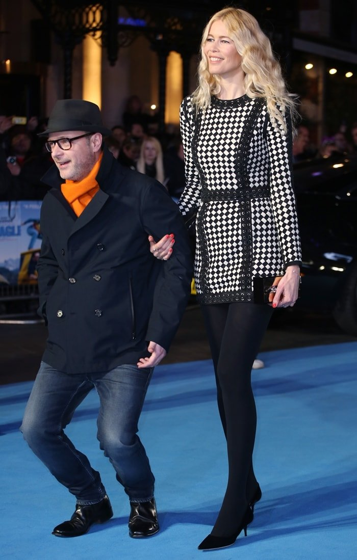 German supermodel Claudia Schiffer is married to much shorter film director Matthew Vaughn