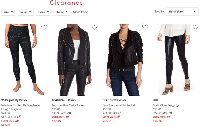 The clearance section at Nordstrom Rack offers incredible deals on clothing