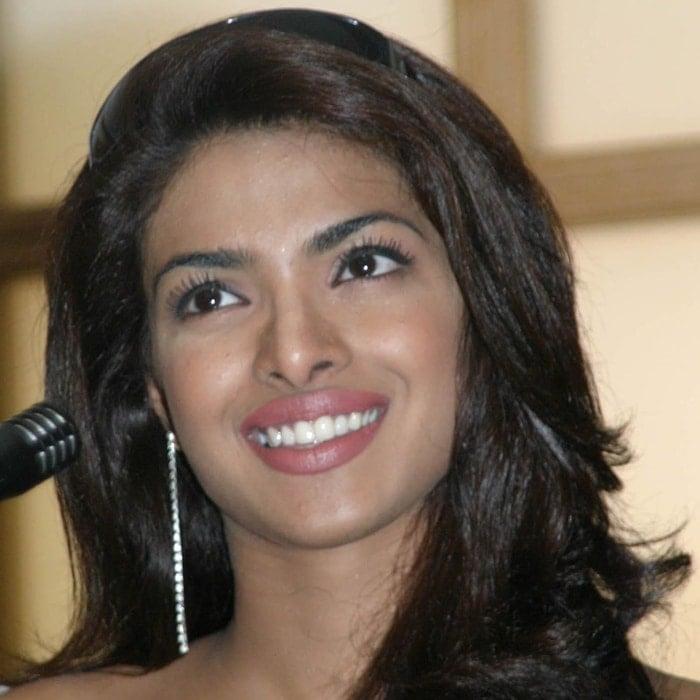 Priyanka Chopra, Miss World 2000, during Bollywood Stars Promote Temptation 2004