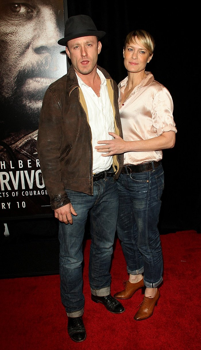 Ben Foster and ex-fiancée Robin Wright at the premiere of Lone Survivor on December 3, 2013