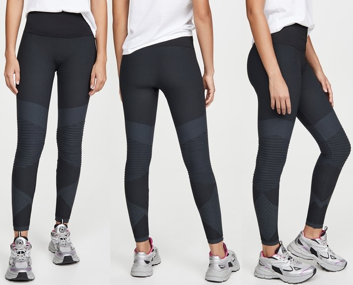 Ribbing at the knees adds a moto touch to Spanx's signature Look At Me Now leggings