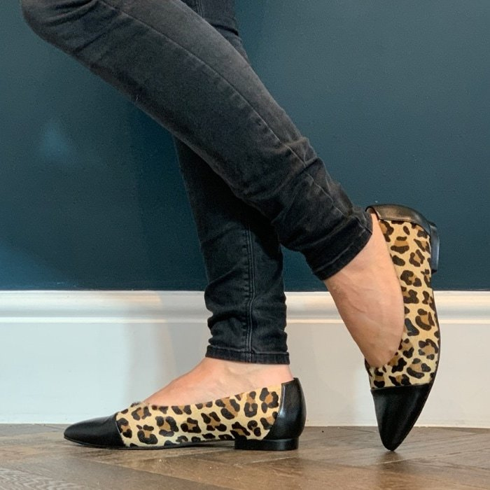 Sargasso & Grey's wide fit leopard print flats