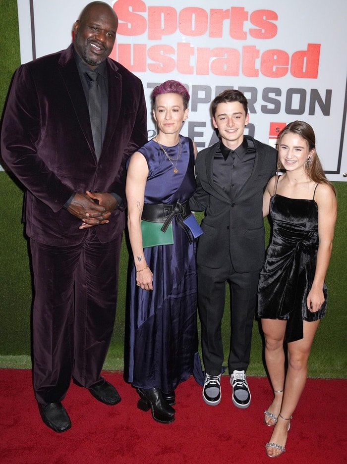 Shaquille O'Neal, professional soccer player Megan Rapinoe, Sports Illustrated Kids SportsKid of the Year, Ally Sentnor, and actor Noah Schnapp