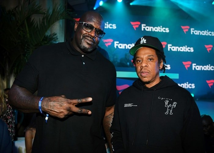 Shaquille O'Neal and Jay-Z attend Michael Rubin's Fanatics Super Bowl Party