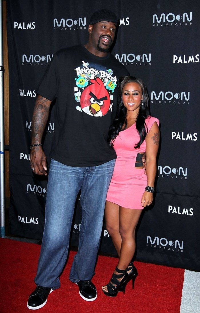 """Shaquille O'Neal and his girlfriend Nicole """"Hoopz"""" Alexander host his retirement party"""