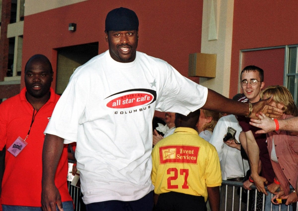 The then 27-year-old Shaquille O'Neal pictured in Columbus, Ohio