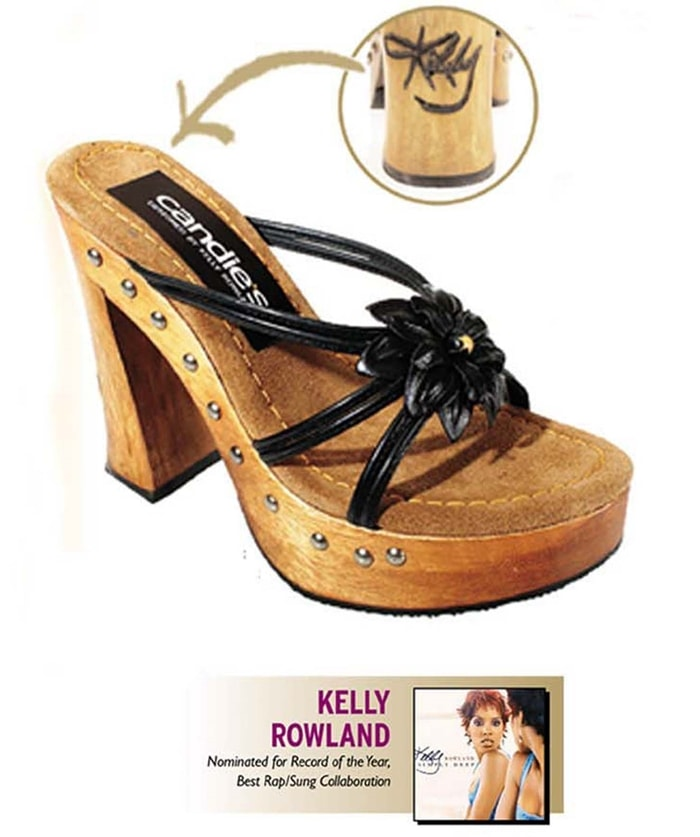 A shoe designed by Kelly Rowland for sale in shops in April 2003 with all proceeds to going to The Candie's Foundation and the Grammy Foundation