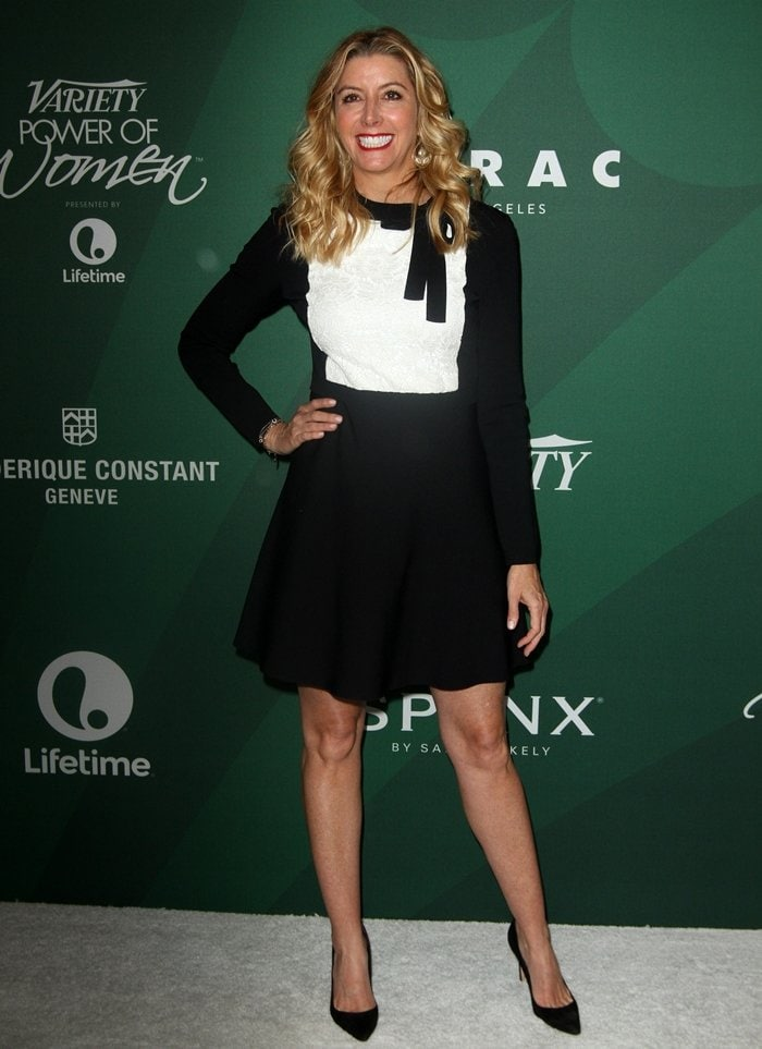 Sara Blakely is the founder of Spanx, an American intimate apparel company with pants and leggings