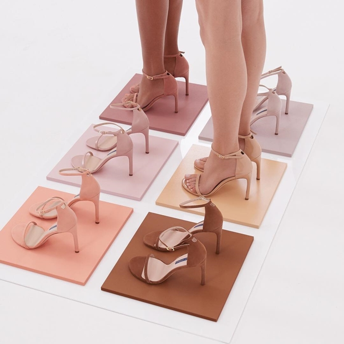 Stuart Weitzman offers a variety of styles and colors for the perfect wedding day