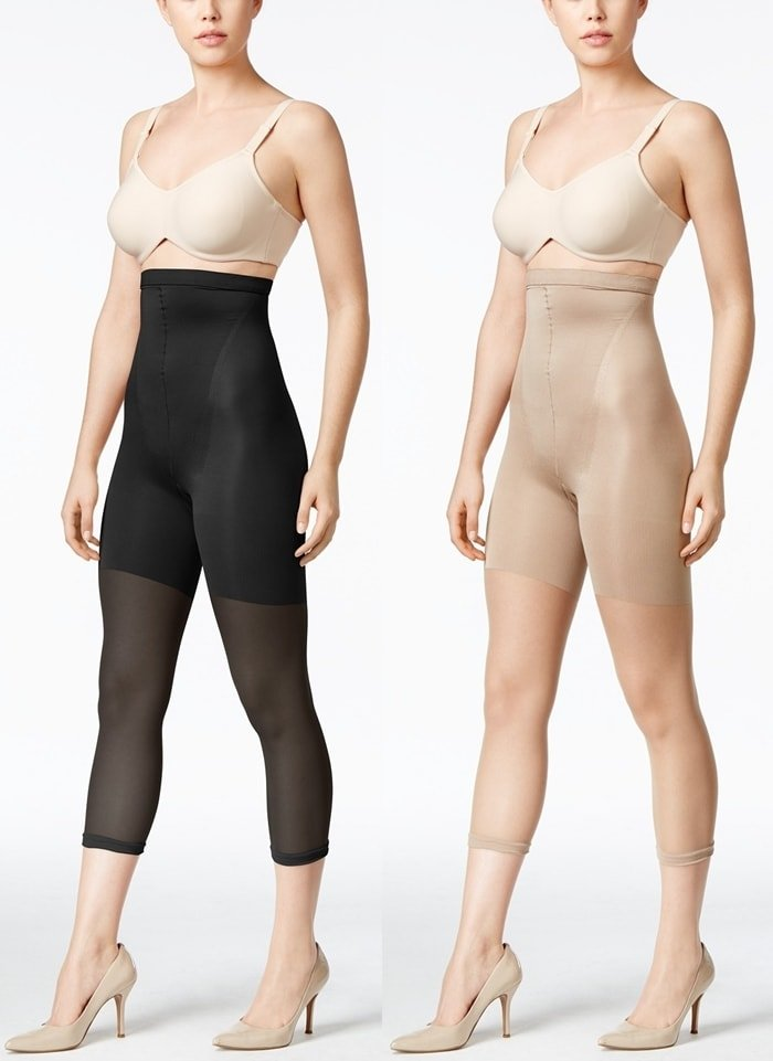 These comfortable, body-shaping footless pantyhose control the tummy through the thighs, and airbrush cellulite for a flawless finish