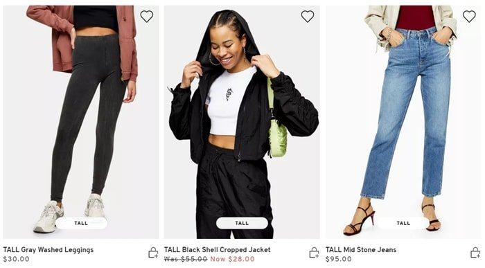 "Shop trending clothing designed just for women 5' 9"" and over at Topshop"