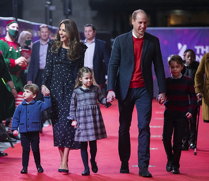 The Duke and Duchess of Cambridge make their red carpet debut with the Royal kids at The London Palladium on December 11, 2020