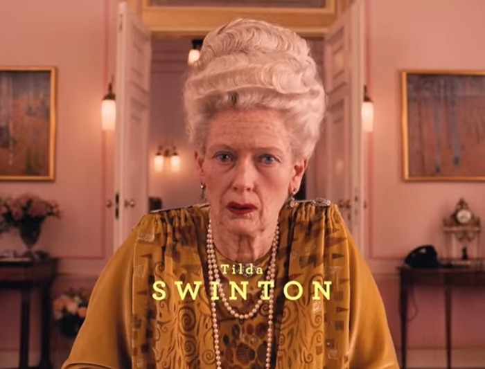 Tilda Swinton as 84-year-old Madame D. in The Grand Budapest Hotel