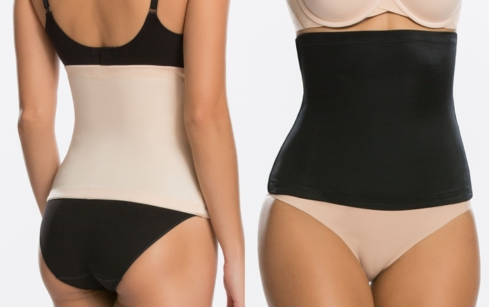 This body-shaping waist cincher uses powerful microfiber and flexible boning at the sides to target the tummy while offering a cling-free, comfortable fit