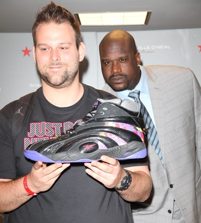 Yann Herrmann helps launch Shaquille O'Neal's menswear collection at Macy's Herald Square