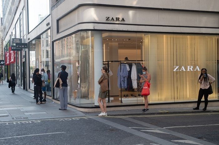 Zara's store on the world-famous Oxford Street in London, England