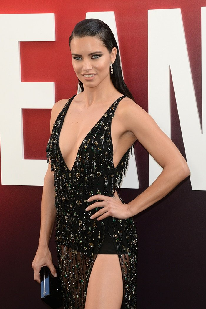 Adriana Lima puts her model curves on show at Ocean's 8 World Premiere on June 5, 2018