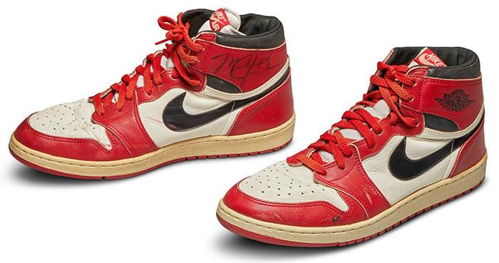 Michael Jordan's signed Air Jordan 1 High OG Chicago was sold for more than half a million dollars