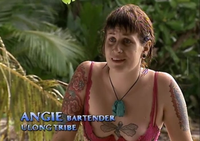 The tattooed bartender from Survivor Palau, Angie Jakusz, died from squamous cell colorectal cancer