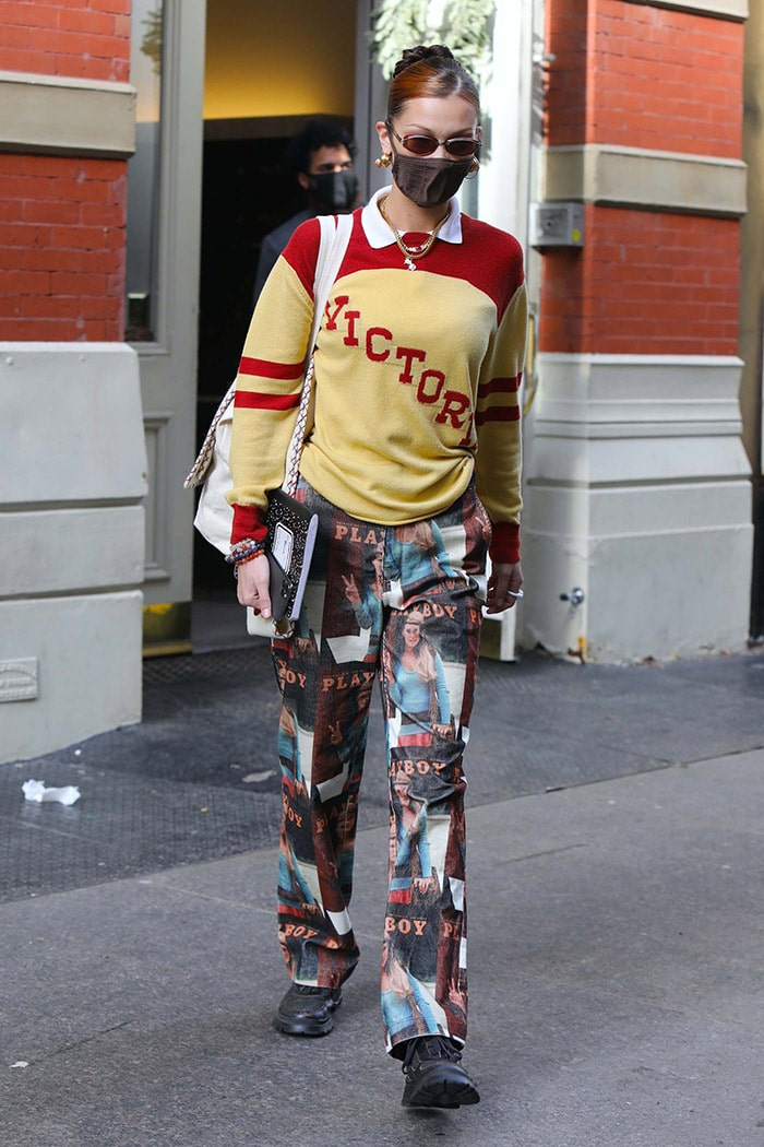 Bella Hadid out and about in New York City on December 23, 2020