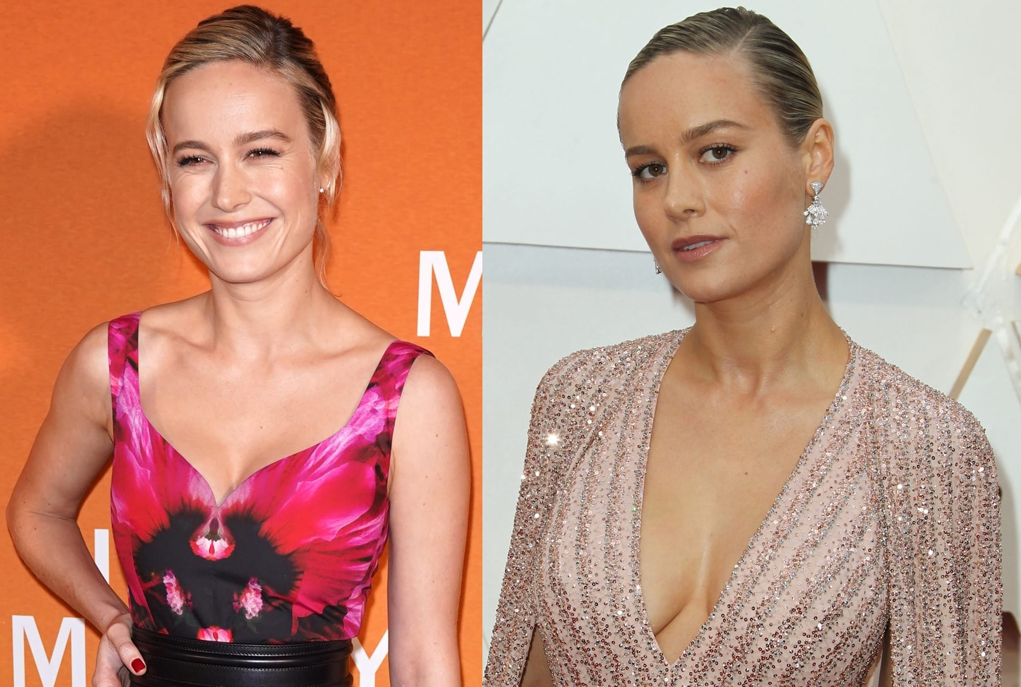 Brie Larson shows off some serious curves in sexy red carpet dresses