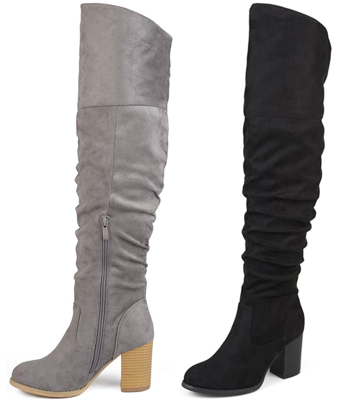 These over-the-knee boots are made for medium to large calves