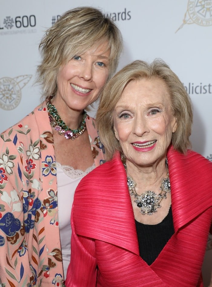 Cloris Leachman with her daughter, actress Dinah Englund, at the 55th Annual ICG Publicists Awards
