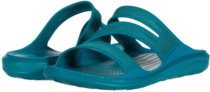 Be adventurous in this water-friendly slip-on slide featuring innovative straps with soft, breathable mesh baked in