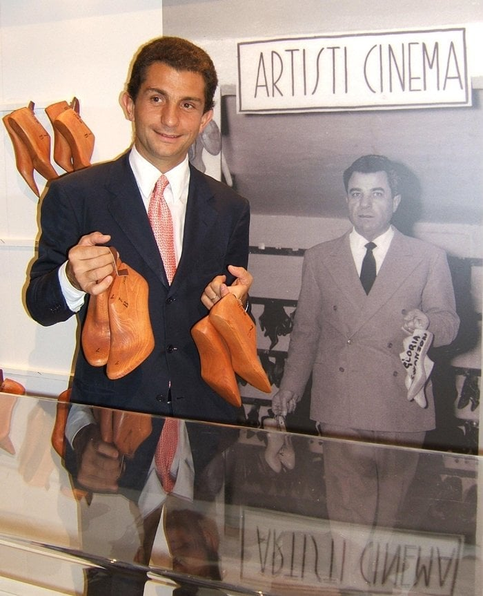 Diego Paterno Castello di San Giuliano, grandson of Salvatore Ferragamo, at the private view of the Ferragamo exhibition