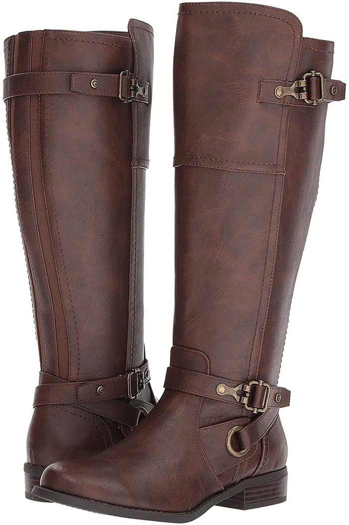 Keep it cool, classic and comfy with these wide calf boots