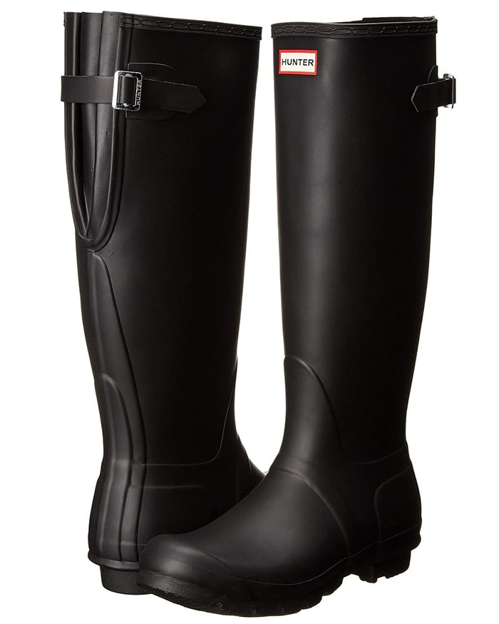 Every storm has a silver lining because you can step out in the classic Hunter Original Adjustable boots