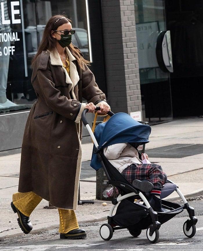 Irina Shayk with her daughter Lea De Seine Shayk Cooper