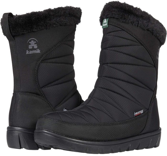 Made of vegan materials with seam-sealed waterproof construction, these winter boots are great for a quick change for the commute home from school