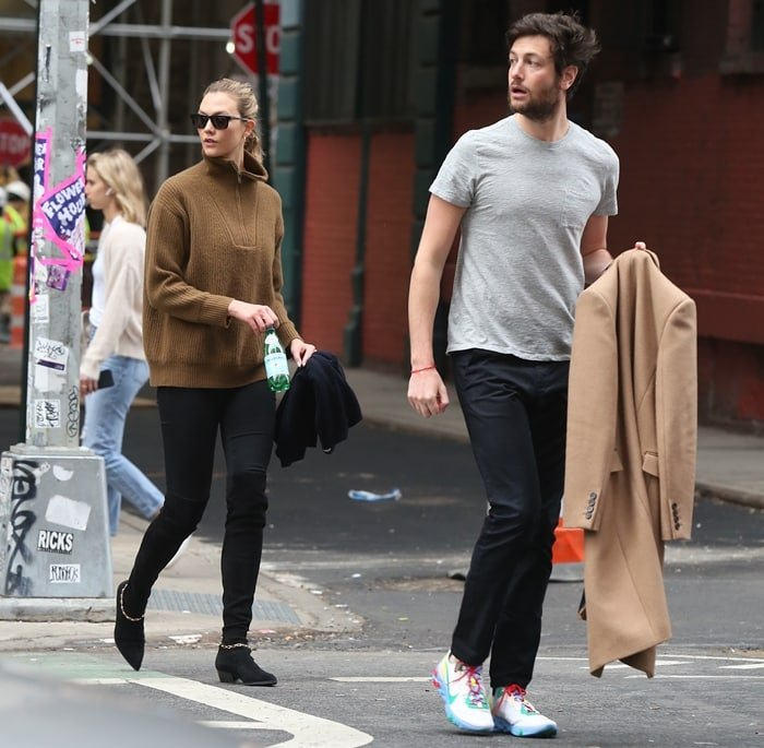 Karlie Kloss and Joshua Kushner pictured on a date in New York City