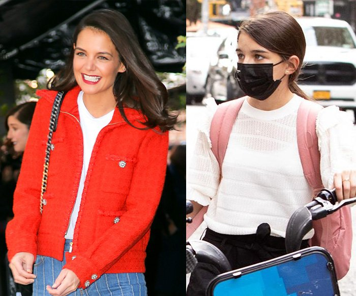 The resemblance between Katie Holmes and daughter Suri Cruise is remarkable