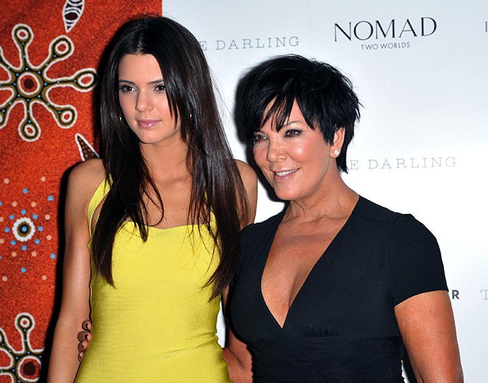 Pictured in 2012, Kendall Jenner shows striking resemblance to her mom Kris Jenner