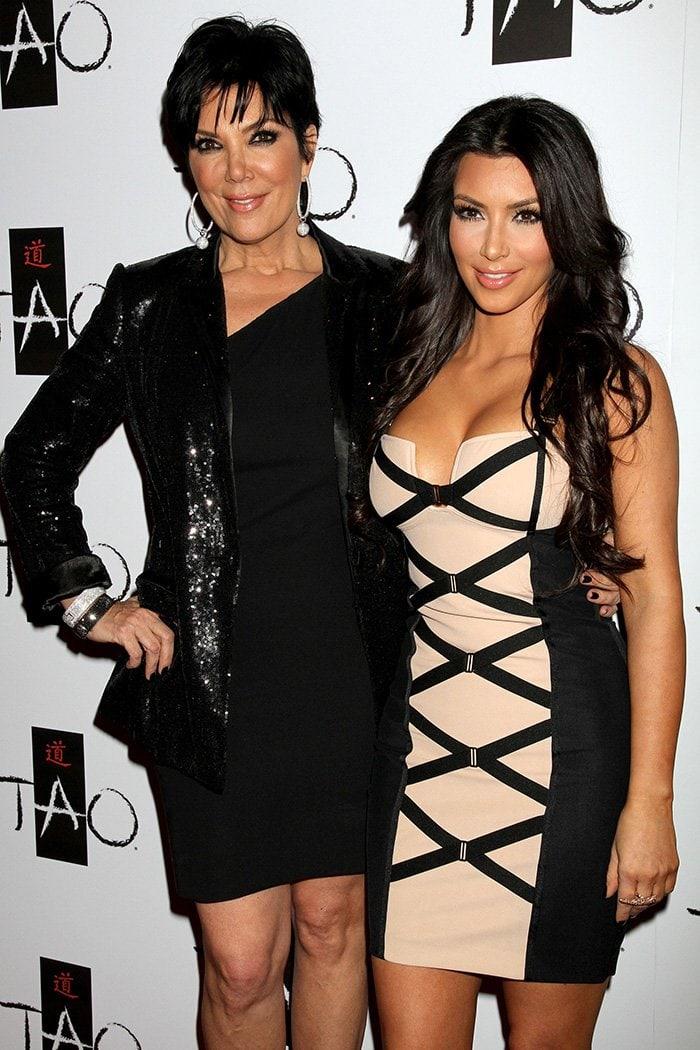 Kris Jenner and Kim Kardashian are practically identical at TAO Nightclub on February 27, 2010