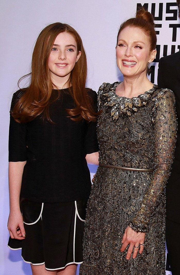 Julianne Moore brings her carbon copy daughter Liv Freundlich at the Museum of Moving Image on January 21, 2015