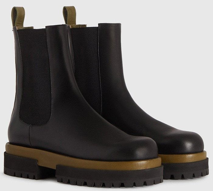 Acacia black round toe Chelsea boots by Maria Luca crafted from soft and smooth calf leather