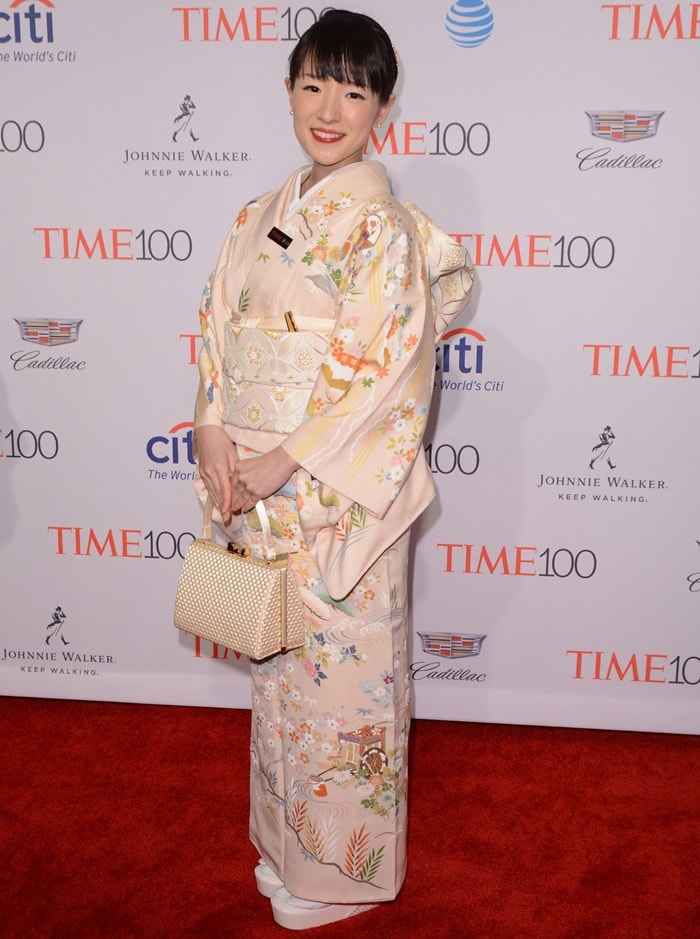 """Organizing consultant Marie Kondo was listed as one of Time's """"100 most influential people"""" in 2015"""