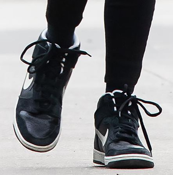 Nicky Hilton dressed down a little with Nike SB Dunk High sneakers